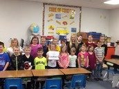 on the ISTEP+ test and shared some cookies during their visit to show their support