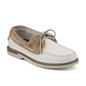 White and Tan Sperry