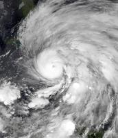 Vista satélite de Superstorm Sandy