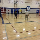 Volleyball in PE this week