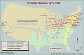 Path the African Americans took to Migrate