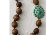Charlize Wooden Necklace - SOLD