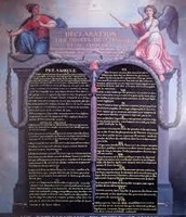 Picture of the Actual Declaration of Rights of Man