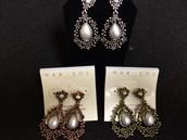 Pearl Drop Earrings for Pierced Ears