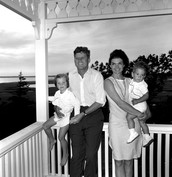 John and Jackie Kennedy and their two kids.