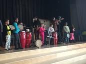 Manguito invites students onstage!