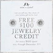 FREE jewelry credits!