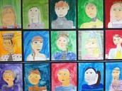 Fourth Grade Medieval Self-Portraits