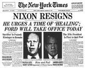 Watergate, impeachment and his resignation
