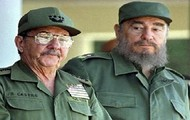 Fidel and his brother Raul Castro
