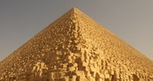What does the building of pyramids tell us about human society?