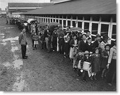 Japanese Americans sent to internment camps.