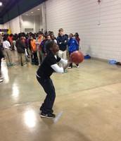 AMS 7th graders at the UNCG Basketball Gane