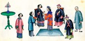 Asian family's using Confucianism.