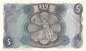 Victorian Era 5 dollar Bill