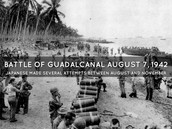 Marines form a perimeter around Guadacanal