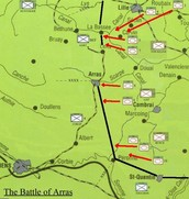 Map of Battle of Arras