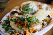Plate of tacos al pastor