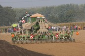 This is a picture of a modern day seed drill