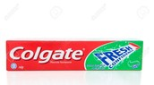 Put in toothpaste