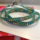 Triple wanderlust turquoise & gold bracelet