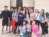 The freshmen on the orchestra trip