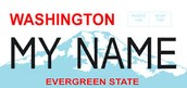 What the lisense plate looks like in Washington State