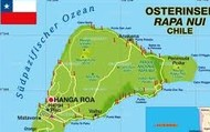 The map of Easter Island