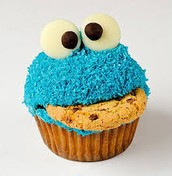 the cookie monsters even likes cupcakes
