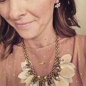 Birdie Necklace & Eva Ear Jacket