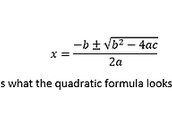 Quadratic formula: Finding x intercepts