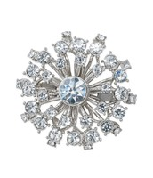 Vintage Starburst Brooch - Silver