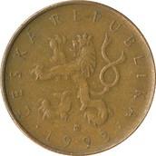 Front of Czech Republic Coin