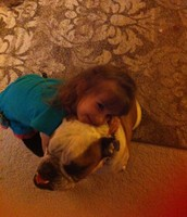 Heather's Furry Friend and Her Youngest!