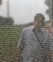 John Wolfram at the Vietnam Memorial Wall - Washington, D.C.