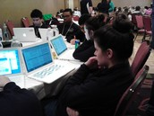 Studying at State Competition