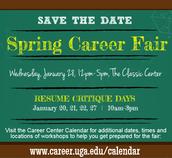 Spring Career Fair- Jan. 28