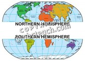 Regionalized by northern, and southern hemisphere!