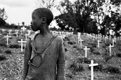 A kid in a sematary
