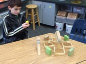 Friday lunch club is all about unstructured architecture in the Science Lab!