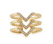 Pave Chevron Ring  Size 7