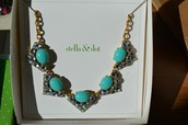 Rory Necklace (blue) - SOLD