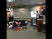 Mr. Barrett our music teacher!