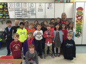 Principal Mauldin with his 2nd grade class, Ms. Cuthbertson