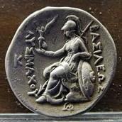 Athens silver coin