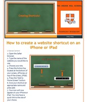 Create a website shortcut on iPhones & iPads