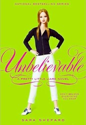 "Unbelievable is a book by Sara Shepard. It is in a series called ""Pretty Little Liars"". The book has 368 pages and is a Mystery/Thriller book. The lexile of the book is 770."