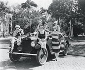 Flappers on a Car