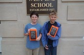 Winners of a Kindle Fire for entering the Reading Incentive.