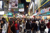 Busy Streets of Hong Kong